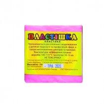 Полимерная глина пластишка светло-розовая  флуоресцентная, 75 г, 0205