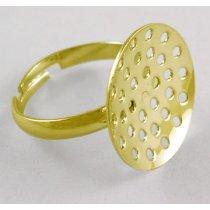 Основа для кольца с платформой-решеткой, 14 мм, цвет золото