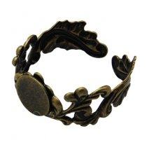 Основа для кольца ажурная с платформой 10 мм, цвет бронза (большой размер)