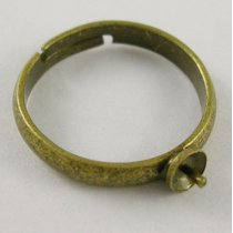 Основа для кольца со штифтом, 19 мм, цвет античная бронза