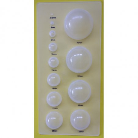 Молд-доска для квиллинга, 12 полусфер, 88х186 мм