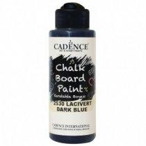 Акриловая краска для меловых досок Cadence Chalkboard Paint, 120 мл, цвет 2530 темно-синий