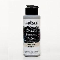 Акриловая краска для меловых досок Cadence Chalkboard Paint, 120 мл, цвет 2550 серый