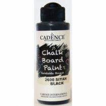 Акриловая краска для меловых досок Cadence Chalkboard Paint, 120 мл, цвет 2600 черный