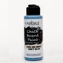 Акриловая краска для меловых досок Cadence Chalkboard Paint, 120 мл, цвет 2580 серо-синий