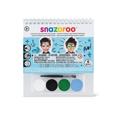 Набор красок для аквагрима Boys, 4 краски + 1 кисточка