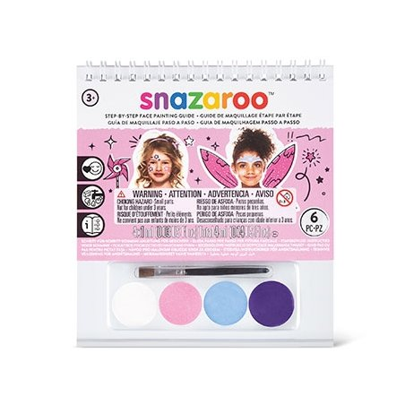 Набор красок для аквагрима Girl, 4 краски + 1 кисточка