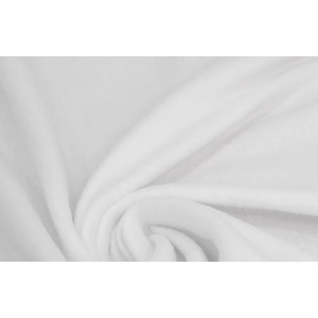 Ткань флис, 28х40 см, цвет белый