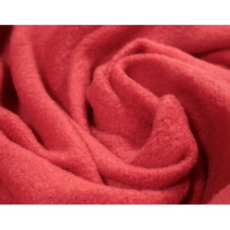 Ткань флис, 28х40 см, цвет красный