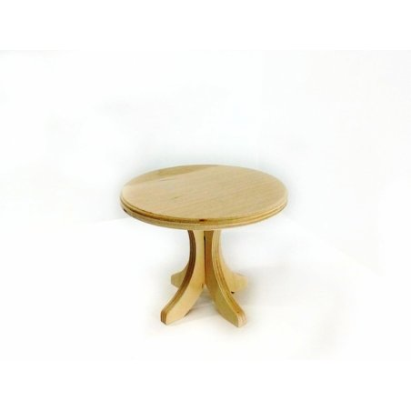 """Кукольная мебель """"Столик деревянный круглый №2"""", 15х15х12 см"""
