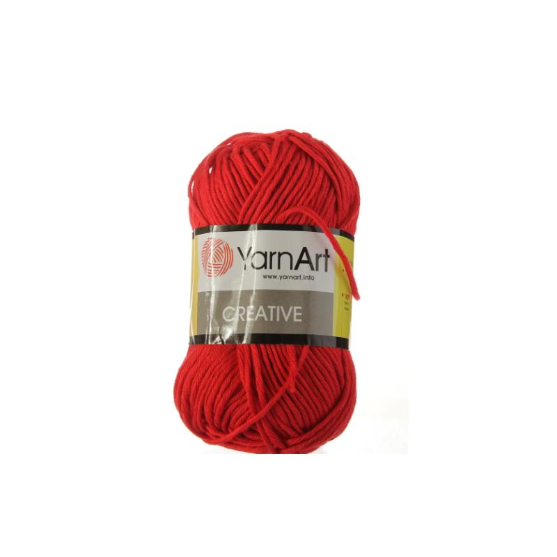 Хлопковая пряжа YarnArt creative, красный №237
