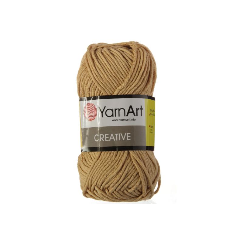Хлопковая пряжа YarnArt creative, соломка №233