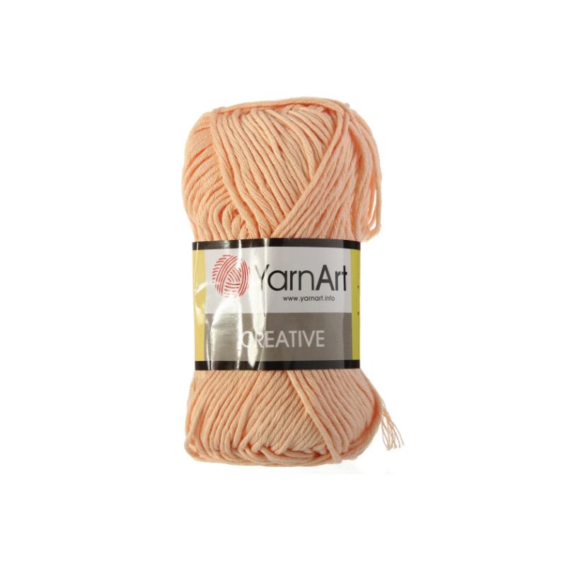 Хлопковая пряжа YarnArt creative, персик №225