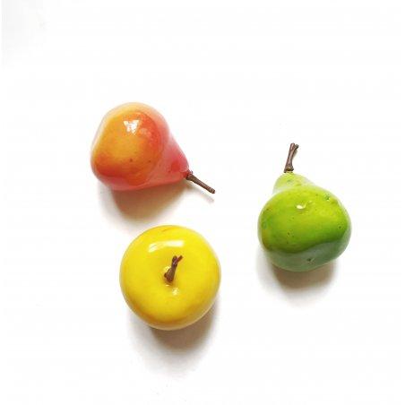 Набор декоративных фруктов микс, 3-4 см, 3 штуки