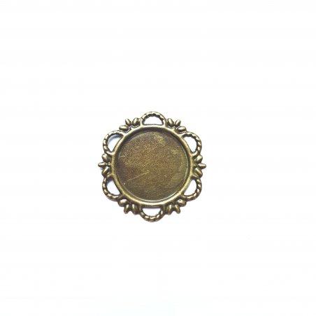 Основа для декорирования, 21 мм, цвет бронза, 1 штука