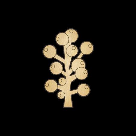 Деревянная заготовка Ягодки на ветке (245)