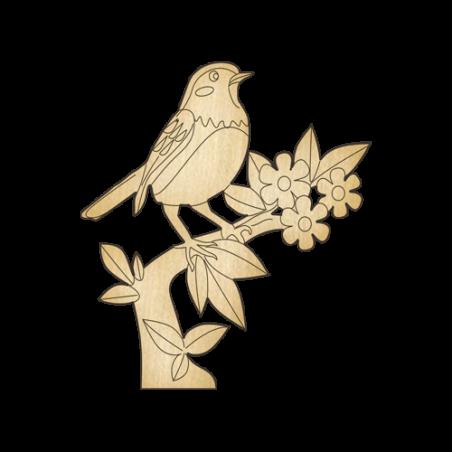 Деревянная заготовка Птичка на ветке (250)