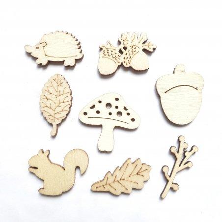 Набор деревянных заготовок Осень, 8 фигурок