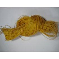 Вощеная нить, цвет желтый теплый, 1 мм