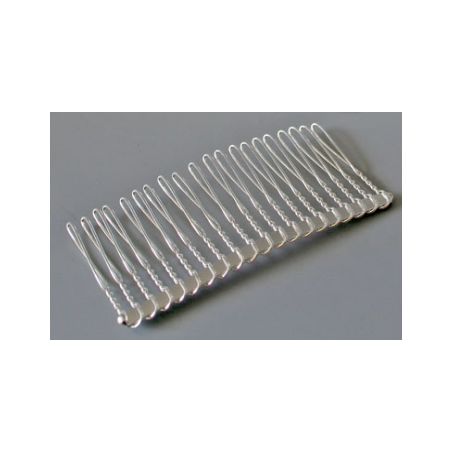 Гребешок металлический, 7х3,5 см, цвет - серебро, 1 штука