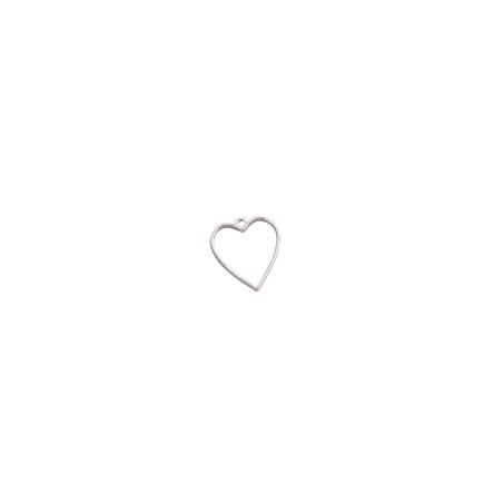 """Рамка (сеттинг) под заливку эпоксидной смолой """"Сердце"""" (сталь), 2,7х3 см"""