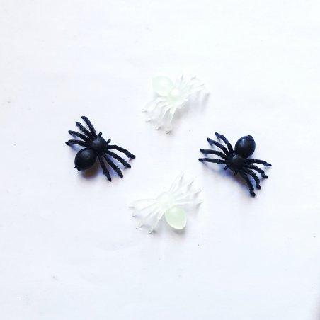 Набор декоративных пауков, 2х1,4 см, 4 штуки