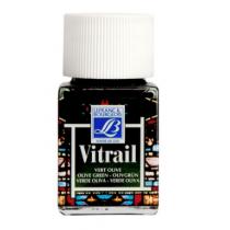 Витражная краска Lefranc Vitrail, 50 мл, №541 Olive green (оливковый)