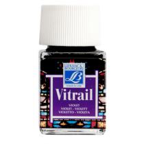 Витражная краска Lefranc Vitrail, 50 мл, №601 Violet (фиолетовый)