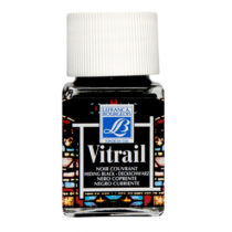 Витражная краска Lefranc Vitrail, 50 мл, №267 Hiding black (черный)
