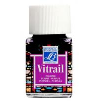 Витражная краска Lefranc Vitrail, 50 мл, №350 Purple (пурпурный)
