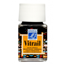 Витражная краска Lefranc Vitrail, 50 мл, №231 Orange yellow (оранжево-желтый)