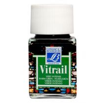 Витражная краска Lefranc Vitrail, 50 мл, №534 Warm green (зеленый теплый)