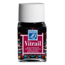Витражная краска Lefranc Vitrail, 50 мл, №466 Deep red (темно-красный)