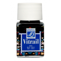 Витражная краска Lefranc Vitrail, 50 мл, №025 Blue (синий)