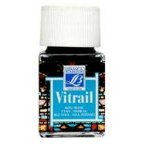 Витражная краска Lefranc Vitrail, 50 мл, №087 Cyan (голубой)