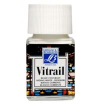 Витражная краска Lefranc Vitrail, 50 мл, №004 Covering white (белый)