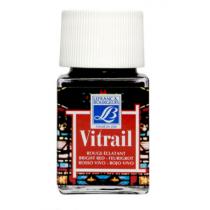 Витражная краска Lefranc Vitrail, 50 мл, №433 Bright red (ярко-красный)