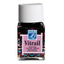 Витражная краска Lefranc Vitrail, 50 мл, №374 Ancient pink (античный розовый)