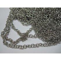 Цепь серебряная 4х5мм
