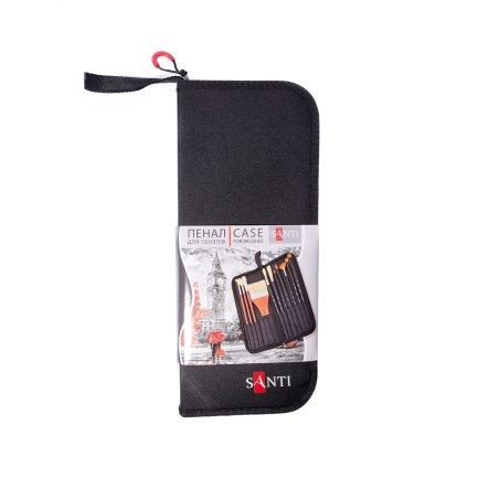 Пенал SANTI, для кистей, 100х260х25 мм, цвет- черный