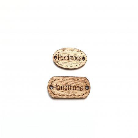 Бирки для скрапбукинга Hand made, цвет коричневый (2 штуки)
