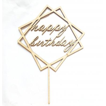 Топпер happy birthday, 18х18 см