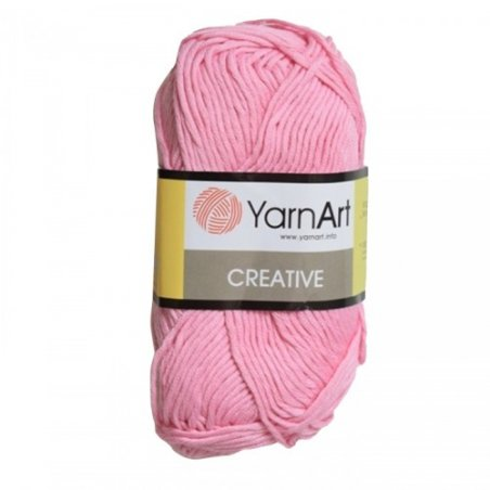 Хлопковая пряжа YarnArt creative, розовый №230