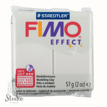Полимерная глина Fimo Effect, 56г, 08, белый металлик
