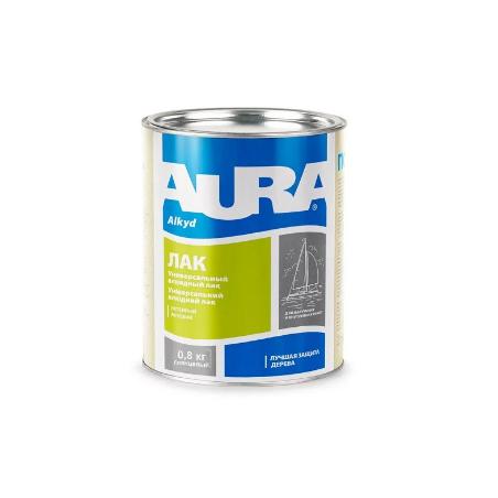 Лак алкидно-уретановый (яхтенный) AURA, глянцевый, 0,8 кг