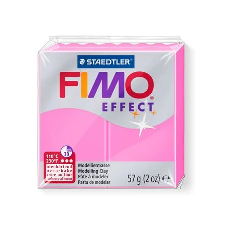 Полимерная глина Fimo Effect, №201, неоново-розовый, 57 г