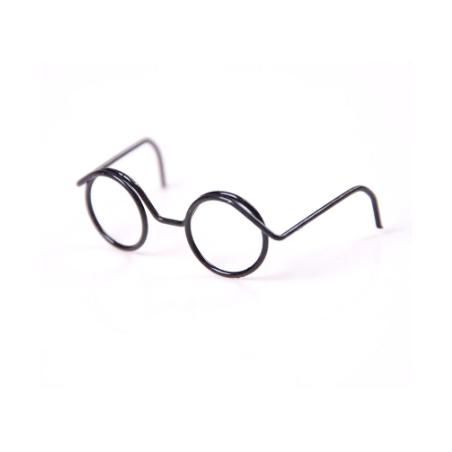 Очки без линз для игрушек и кукол, 4 см, цвет - черный