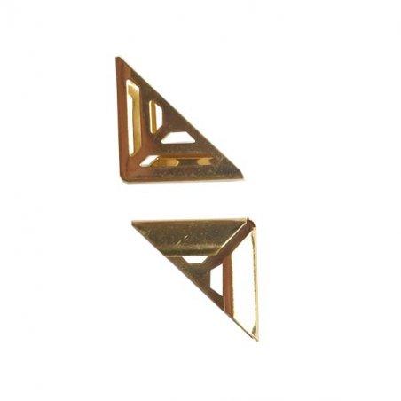 Уголок для папок металлический С-1209-2, цвет золото, 17х4 мм (2 штуки)