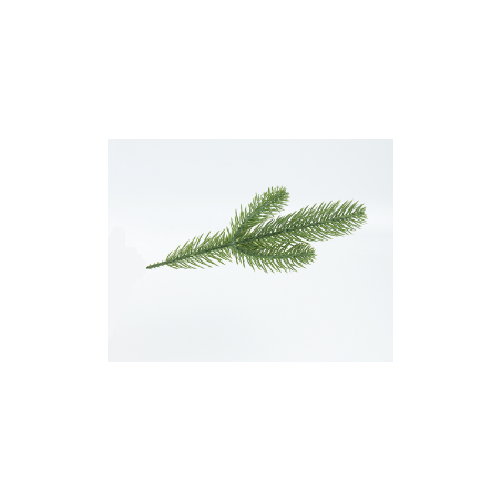 """Искусственная зелень """"Еловая веточка зеленая"""" №2, 17 см"""