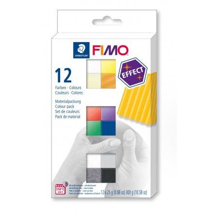 """Набор полимерной глины FIMO """"Effect"""", 12 цветов по 25 г 8013 С12-1"""